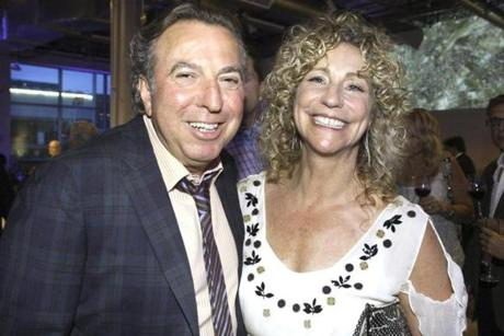 6-1-2012 Boston, Mass. Over 500 guests attended Italianissimo ! Serata Di Gala held at Louis Waterfront to benefit Friends of the Italian Center. L. to R. are Event Committee members Mario Russo and Debbie Greenberg . Globe photo by Bill Brett